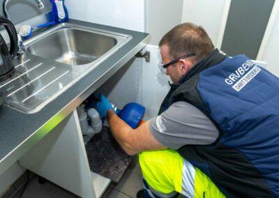 Rohrreinigung, mit unserem 24-Stunden-Notdienst