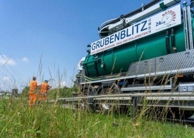 Kanalreingung an der A560 Grubenblitz
